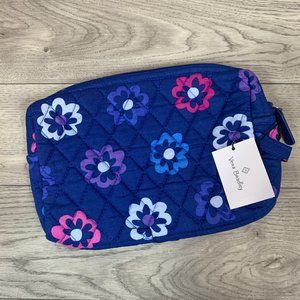 NWT VERA BRADLEY Ellie Flowers Medium Cosmetic Bag